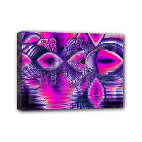 Rose Crystal Palace, Abstract Love Dream  Mini Canvas 7  x 5  (Framed)