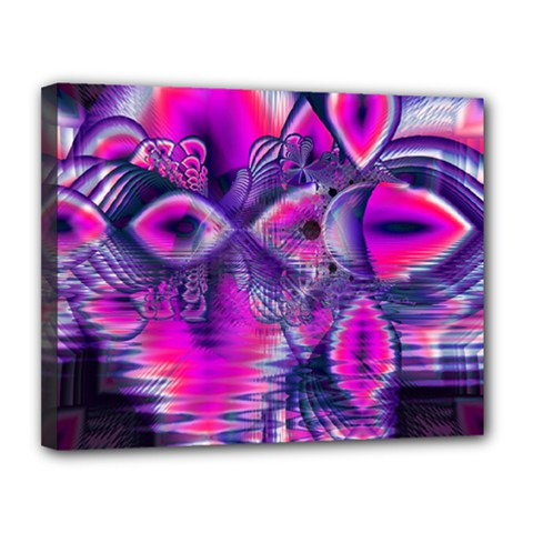 Rose Crystal Palace, Abstract Love Dream  Canvas 14  x 11  (Framed)