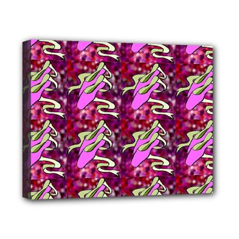 Ballerina Slippers Canvas 10  x 8  (Framed)