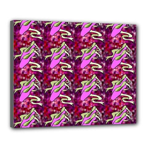 Ballerina Slippers Canvas 20  x 16  (Framed)