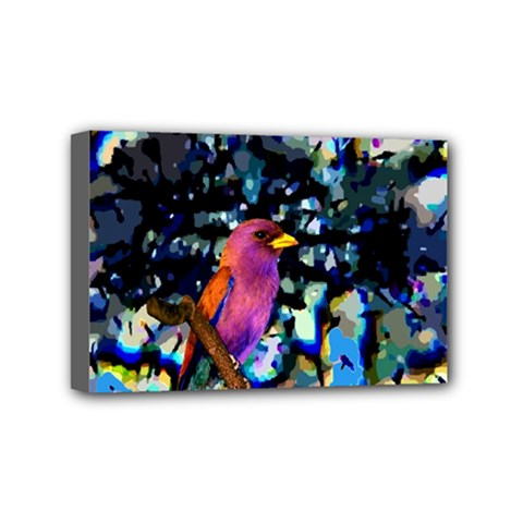 Bird Mini Canvas 6  x 4  (Framed)