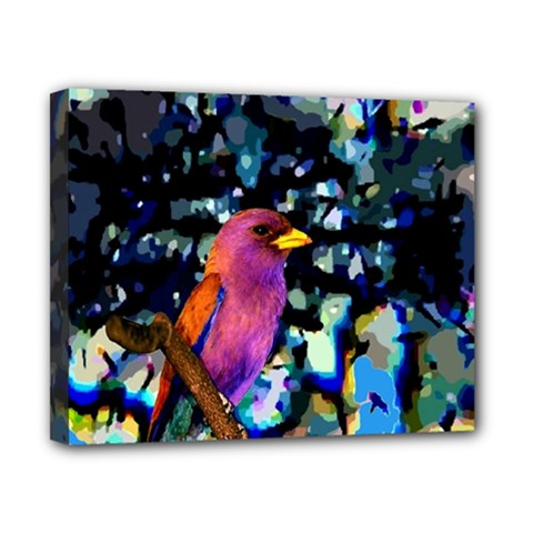 Bird Canvas 10  x 8  (Framed)