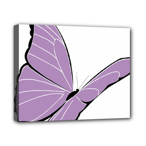 Purple Awareness Butterfly 2 Canvas 10  x 8  (Framed)