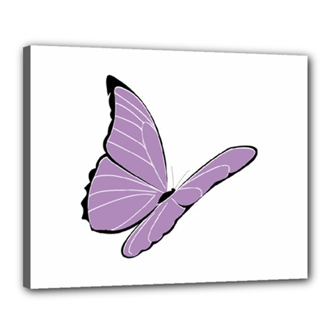 Purple Awareness Butterfly 2 Canvas 20  X 16  (framed)