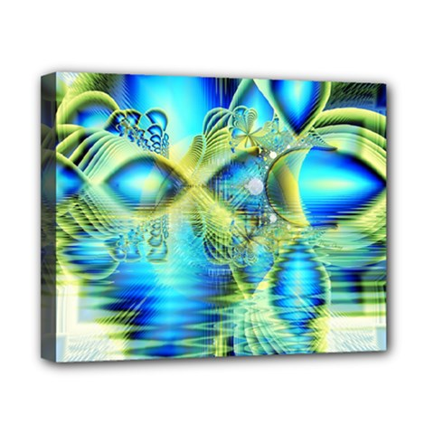 Crystal Lime Turquoise Heart Of Love, Abstract Canvas 10  x 8  (Framed)