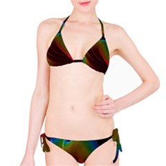 Liquid Rainbow, Abstract Wave Of Cosmic Energy  Bikini
