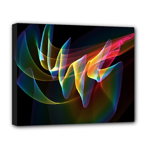 Northern Lights, Abstract Rainbow Aurora Deluxe Canvas 20  X 16  (framed)