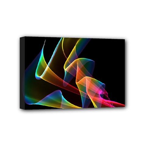 Crystal Rainbow, Abstract Winds Of Love  Mini Canvas 6  X 4  (framed)