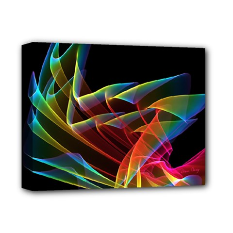 Dancing Northern Lights, Abstract Summer Sky  Deluxe Canvas 14  x 11  (Framed)