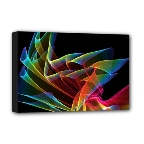 Dancing Northern Lights, Abstract Summer Sky  Deluxe Canvas 18  X 12  (framed)