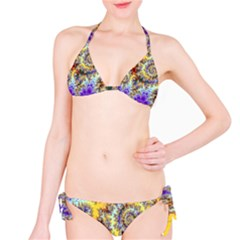 Desert Winds, Abstract Gold Purple Cactus  Bikini