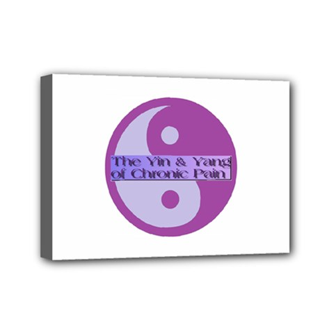 Yin & Yang Of Chronic Pain Mini Canvas 7  x 5  (Framed)