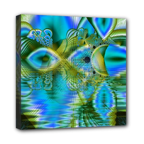 Mystical Spring, Abstract Crystal Renewal Mini Canvas 8  x 8  (Framed)