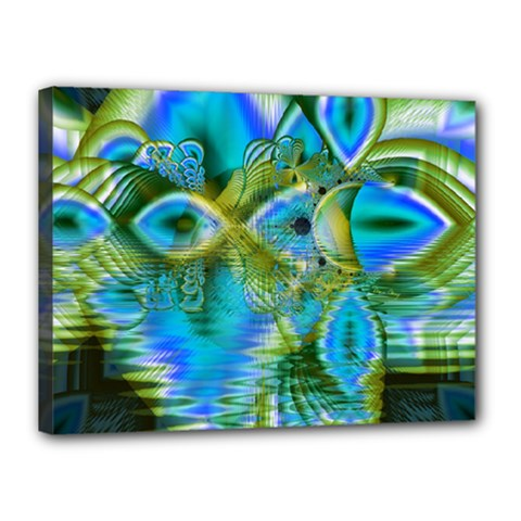 Mystical Spring, Abstract Crystal Renewal Canvas 16  x 12  (Framed)