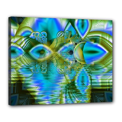 Mystical Spring, Abstract Crystal Renewal Canvas 20  x 16  (Framed)