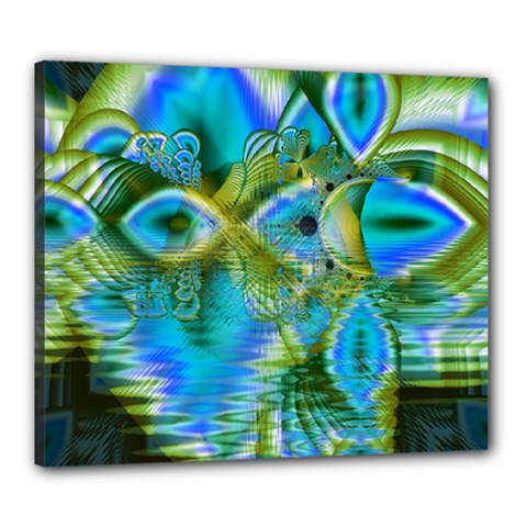 Mystical Spring, Abstract Crystal Renewal Canvas 24  x 20  (Framed)