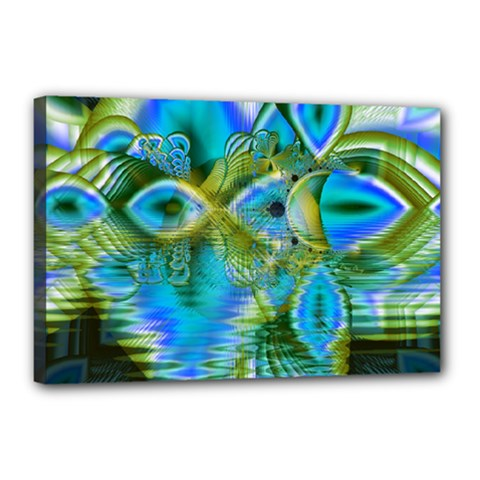 Mystical Spring, Abstract Crystal Renewal Canvas 18  X 12  (framed)