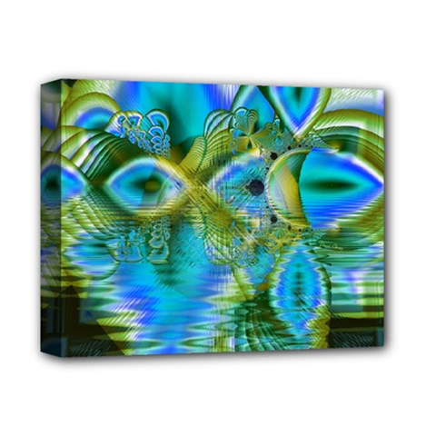 Mystical Spring, Abstract Crystal Renewal Deluxe Canvas 14  X 11  (framed)