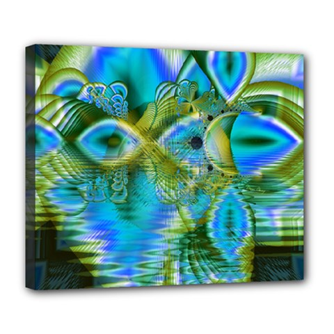 Mystical Spring, Abstract Crystal Renewal Deluxe Canvas 24  x 20  (Framed)