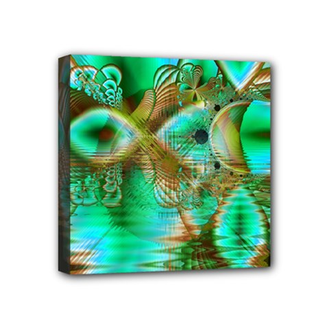 Spring Leaves, Abstract Crystal Flower Garden Mini Canvas 4  x 4  (Framed)