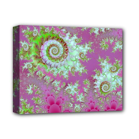 Raspberry Lime Surprise, Abstract Sea Garden  Deluxe Canvas 14  x 11  (Framed)