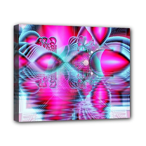 Ruby Red Crystal Palace, Abstract Jewels Canvas 10  x 8  (Framed)