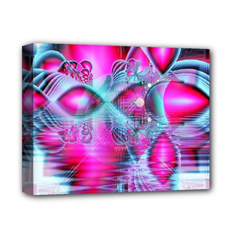Ruby Red Crystal Palace, Abstract Jewels Deluxe Canvas 14  x 11  (Framed)