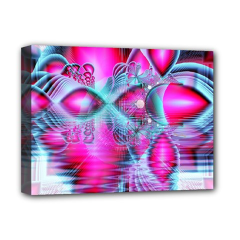 Ruby Red Crystal Palace, Abstract Jewels Deluxe Canvas 16  x 12  (Framed)