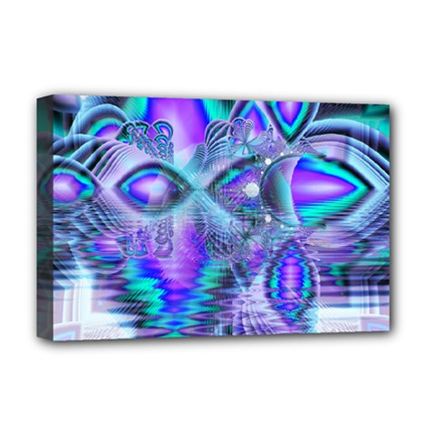 Peacock Crystal Palace Of Dreams, Abstract Deluxe Canvas 18  x 12  (Framed)