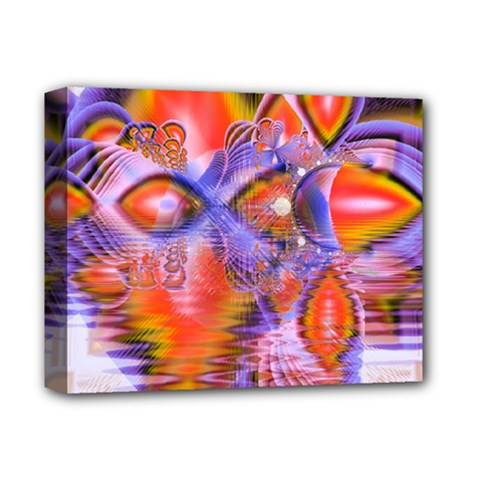 Crystal Star Dance, Abstract Purple Orange Deluxe Canvas 14  x 11  (Framed)