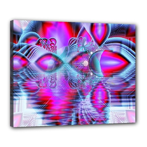 Crystal Northern Lights Palace, Abstract Ice  Canvas 20  x 16  (Framed)