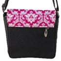 White On Hot Pink Damask Removable Flap Cover (Small) View2