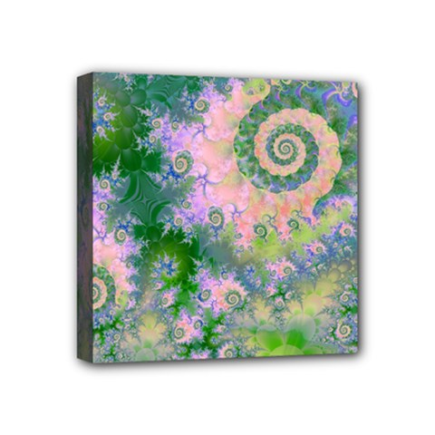 Rose Apple Green Dreams, Abstract Water Garden Mini Canvas 4  X 4  (framed)