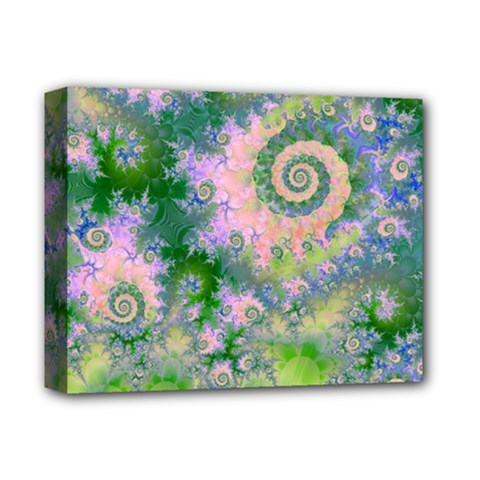 Rose Apple Green Dreams, Abstract Water Garden Deluxe Canvas 14  x 11  (Framed)