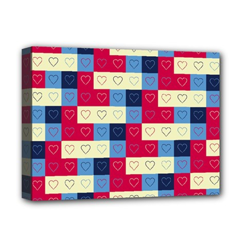Hearts Deluxe Canvas 16  X 12  (framed)