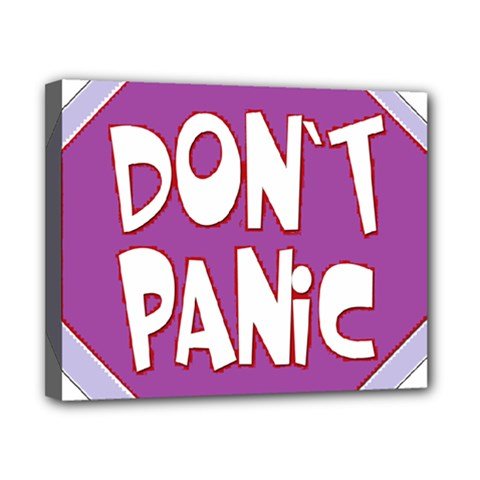 Purple Don t Panic Sign Canvas 10  x 8  (Framed)