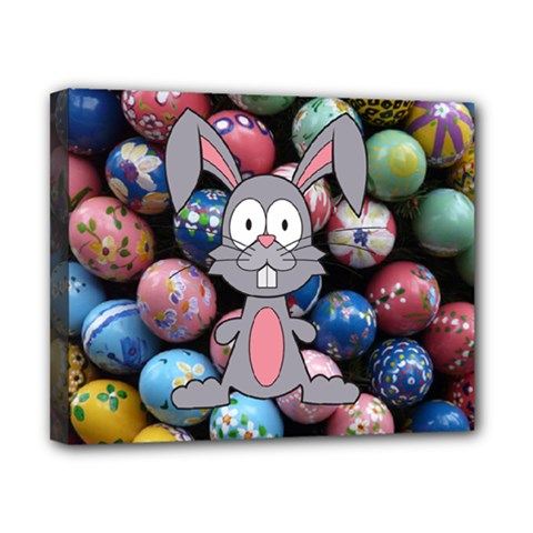 Easter Egg Bunny Treasure Canvas 10  x 8  (Framed)