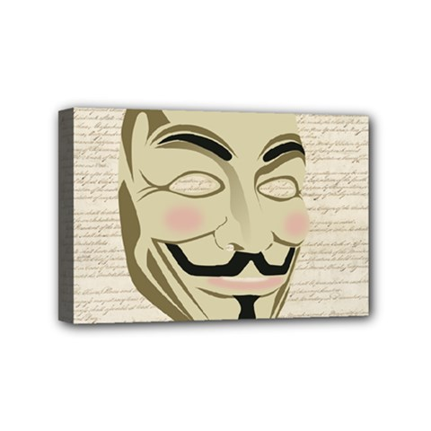 We The Anonymous People Mini Canvas 6  x 4  (Framed)
