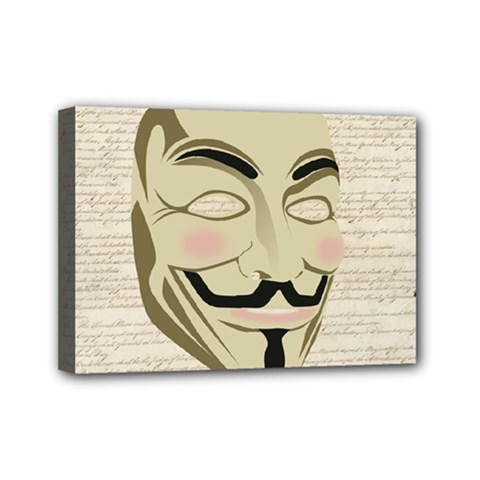 We The Anonymous People Mini Canvas 7  x 5  (Framed)