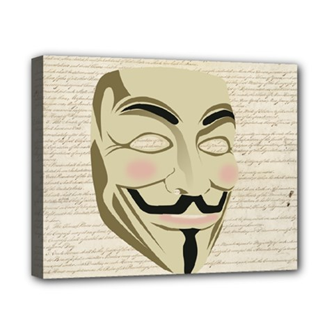 We The Anonymous People Canvas 10  x 8  (Framed)