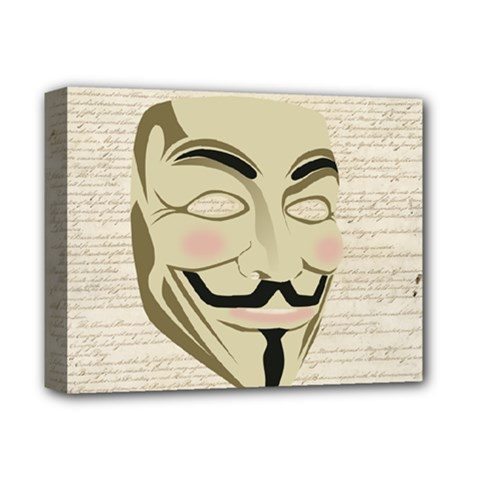 We The Anonymous People Deluxe Canvas 14  x 11  (Framed)
