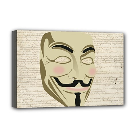 We The Anonymous People Deluxe Canvas 18  x 12  (Framed)