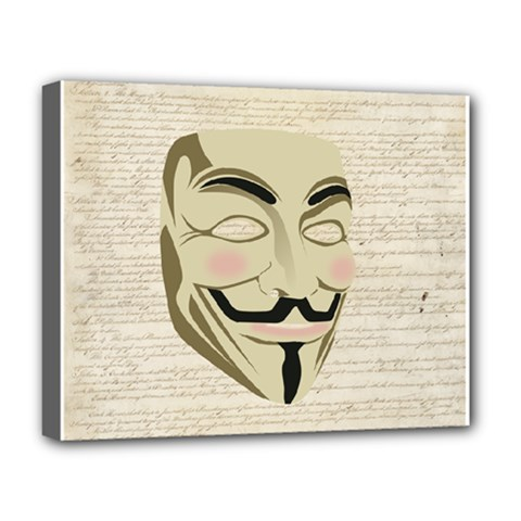 We The Anonymous People Deluxe Canvas 20  X 16  (framed)