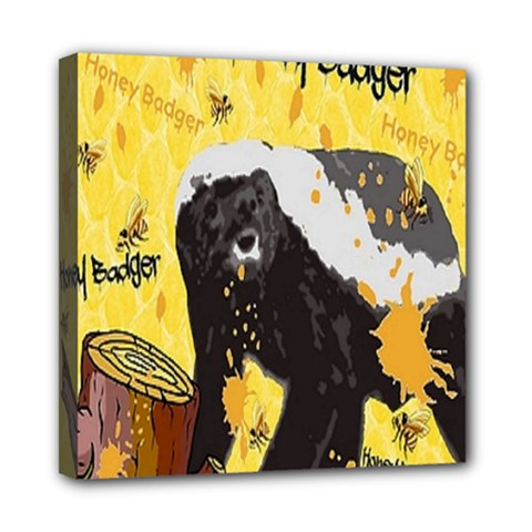 Honeybadgersnack Mini Canvas 8  x 8  (Framed)