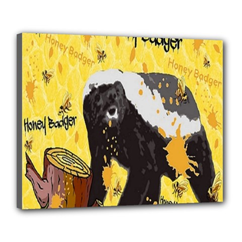 Honeybadgersnack Canvas 20  x 16  (Framed)