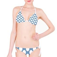 Blue Polkadot Bikini