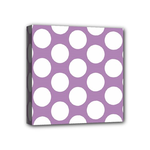Lilac Polkadot Mini Canvas 4  X 4  (framed)