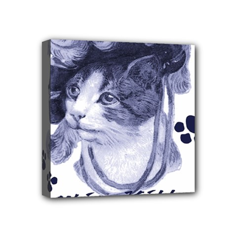 Miss Kitty Blues Mini Canvas 4  X 4  (framed)