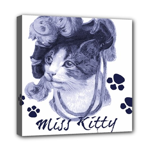 Miss Kitty Blues Mini Canvas 8  X 8  (framed)
