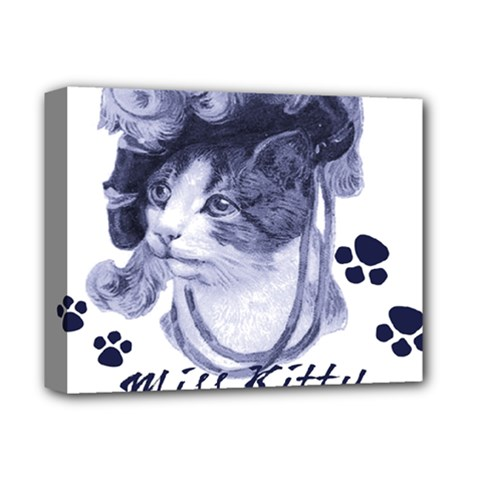 Miss Kitty blues Deluxe Canvas 14  x 11  (Framed)